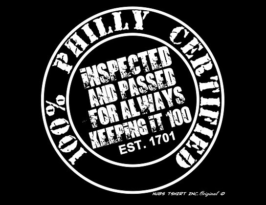 100% Philly Certified T-Shirt