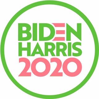 Biden/Harris 2020 White, Green and Pink