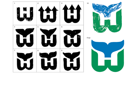 NHL Hartford Whalers Sketches