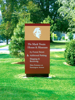 Mark Twain House Signage