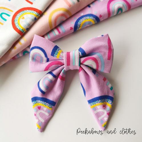 Rainbow Sailor Bow