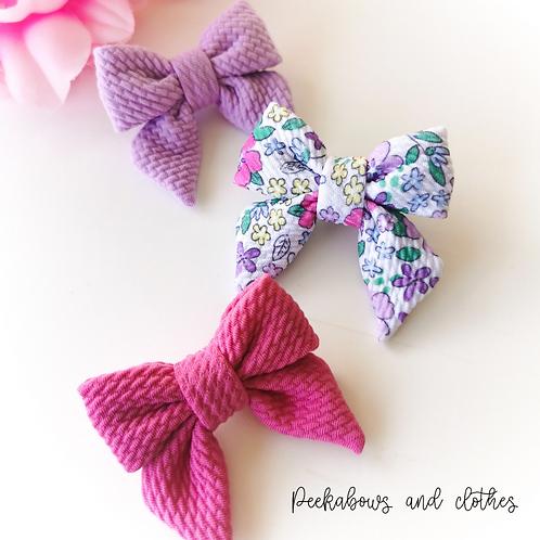 Floral Sailor Bows