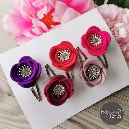 Floral Snap Clip