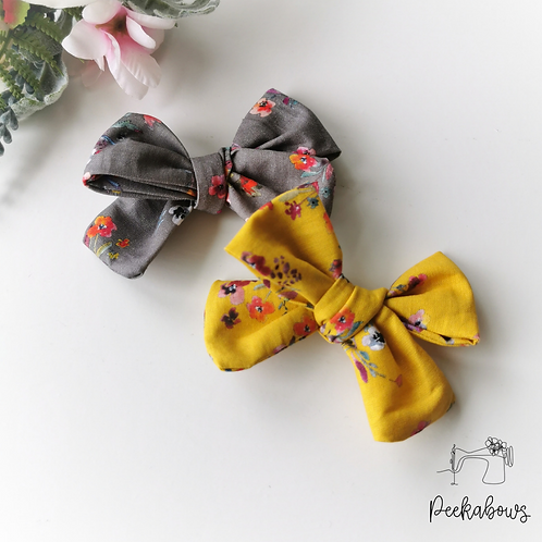 Autumn Floral Tied Bows