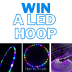 Win a LED hoop and support The Endometriosis Foundation of America!