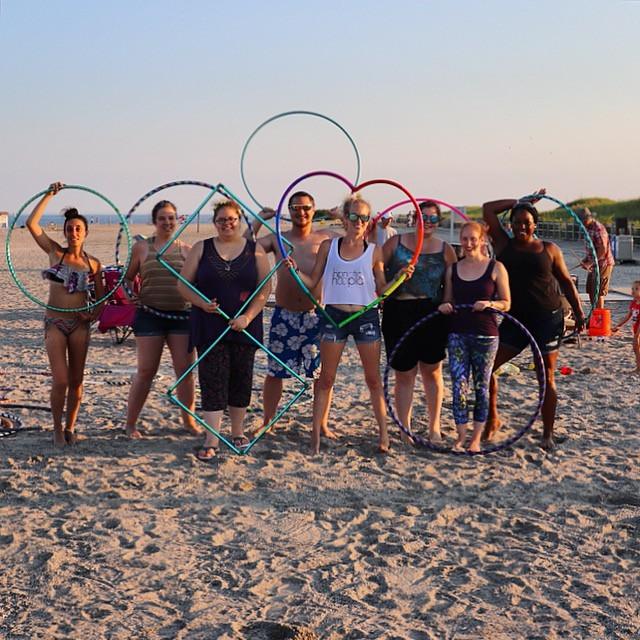 Hoop Dancers on the Beach