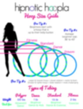 Hula hoop size chart guide hipnotic hoopla