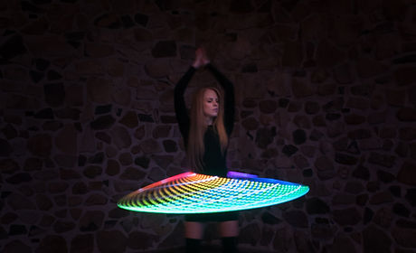 Led light up moodhoop performance hual hoo dance party performance