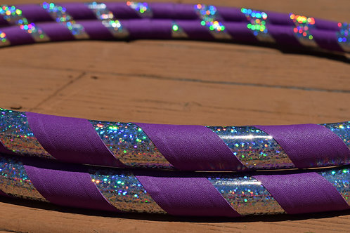 "Silver and Purple 34"" Dance Travel Collapsible Hoop"