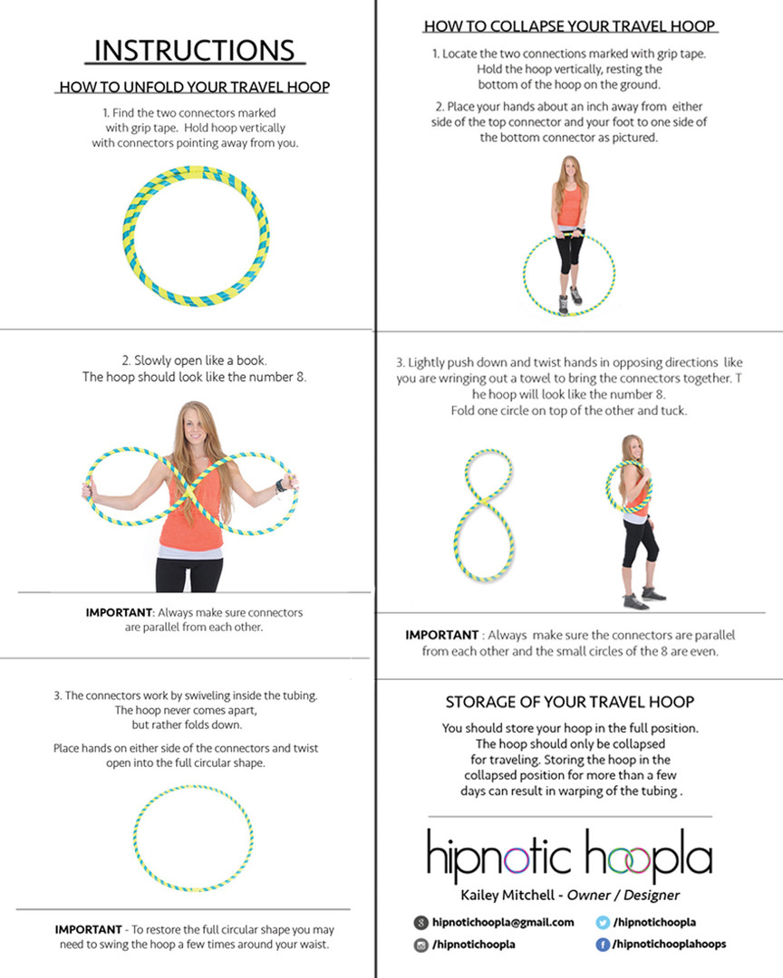 Travel Hoop Instructions
