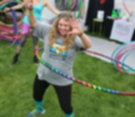Yound women hoop dance fun workshop