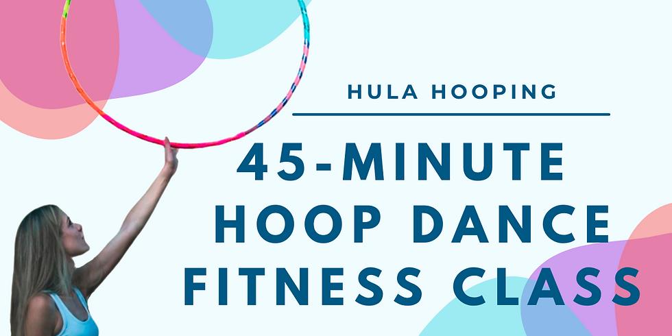 LIVE 45 Min Hoop Dance Fitness Hoop Class   March 4th
