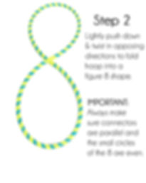 collapsible hula hoop figure 8 infinity style