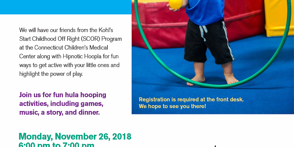 Wiggle, Shake & Hoop! Dinner and a Story