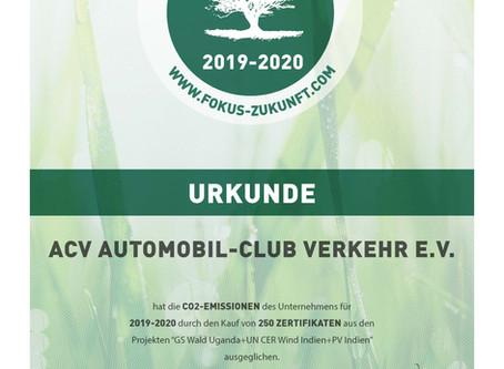 ACV arbeitet als erster Automobilclub klimaneutral