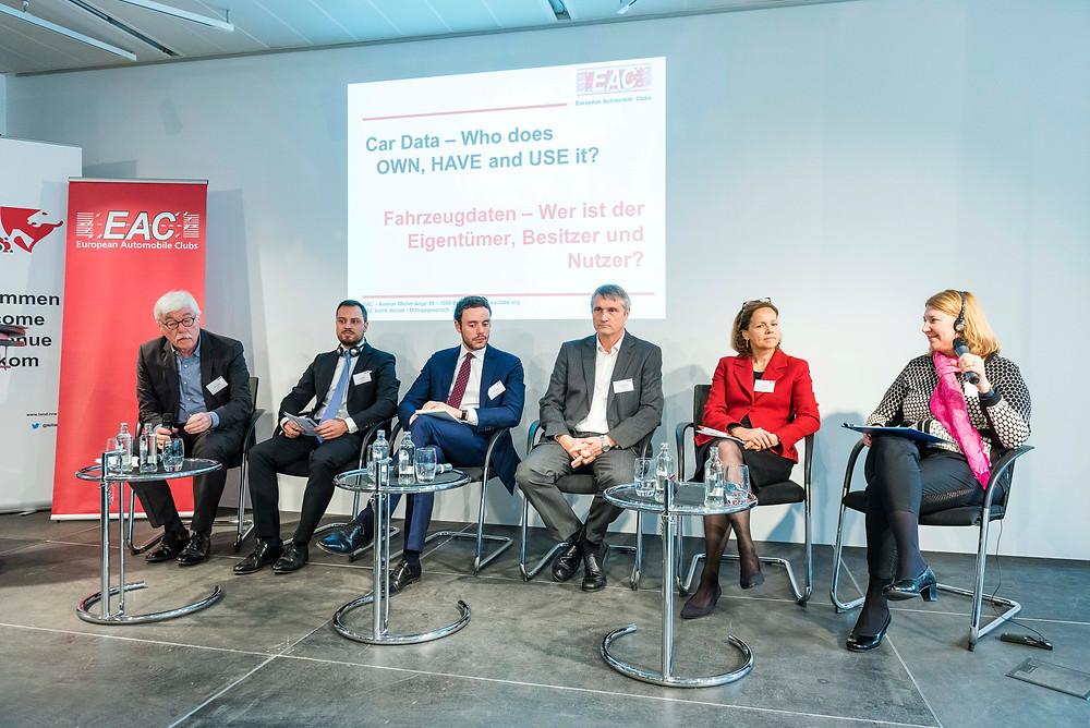 Panel, from left: Werner Balsen (moderator), Jan Bambas, Dimitri Vergne, Francois Fischer, Anne Federle und Natalia Lazarova. Fotos: EAC