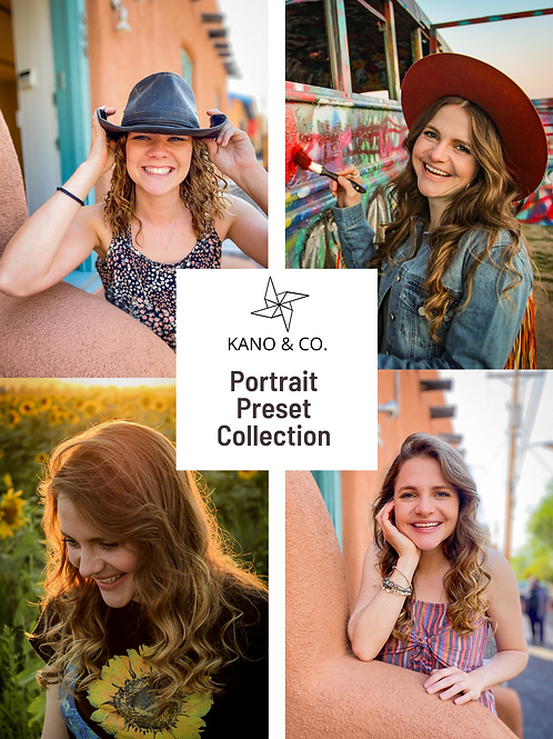 Portrait Preset Collection- Hippie Heritage, Santa Fe Saturday, Sunflower Sunset