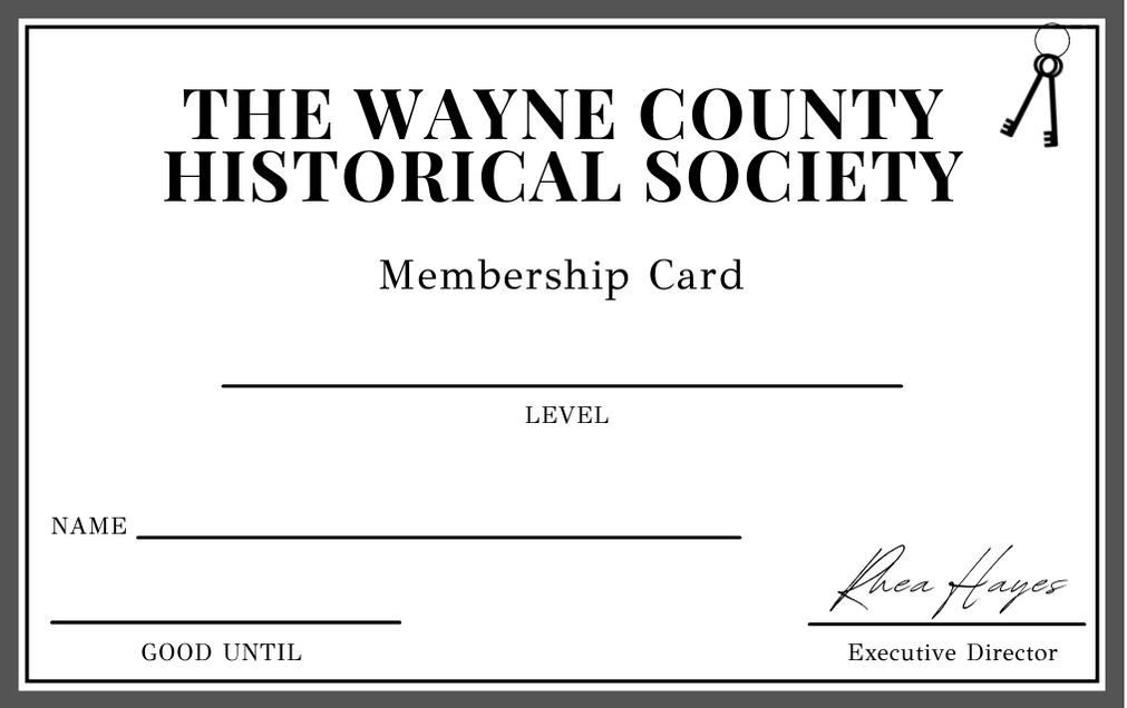 WCHS Membership Card