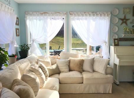 White Farmhouse Style Curtains