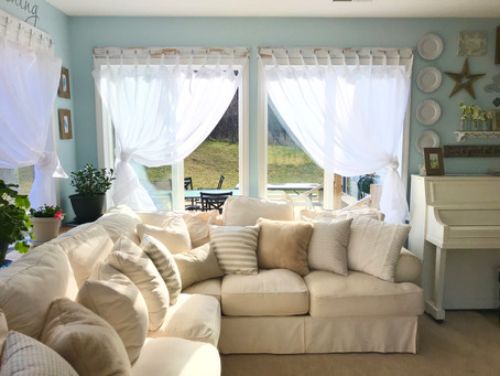 White Farmhouse Style Curtains