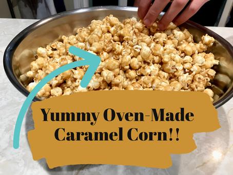 Oven-Made Caramel Corn