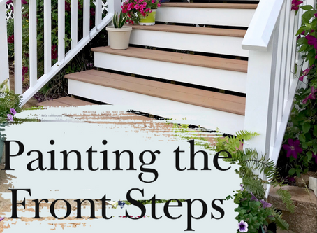 Painting the Font Porch Steps