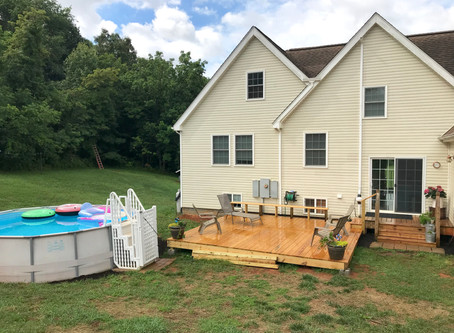 New Deck and Pool Area