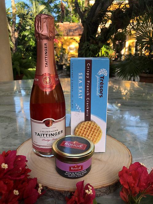 Champagne Taittinger Cuvée Prestige Rosé & Pork and Duck Paté Gift Set