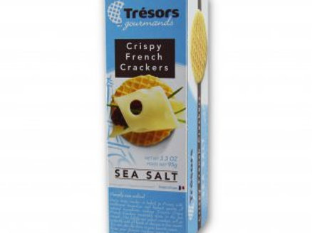 Sea Salt Crispy French Crackers, Tresors Gourmands (3.3oz)