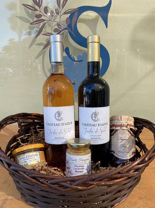 «Jardin du Soleil » Bandol Wine Basket