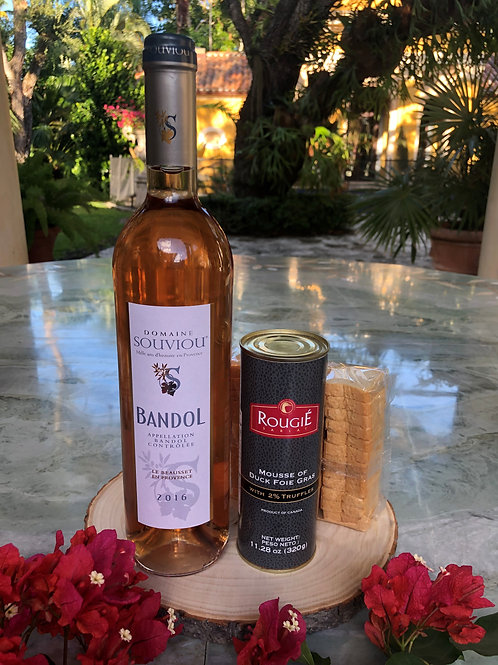 AOP Bandol Rosé 2016, Domaine Souviou, withTruffle Mousse of Duck Foie Gras