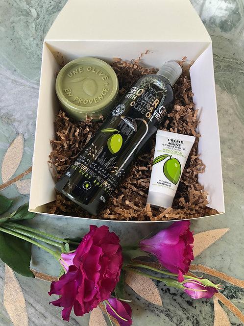 Beauty Set 1: Shower Gel, Soap, Mini Hand Cream