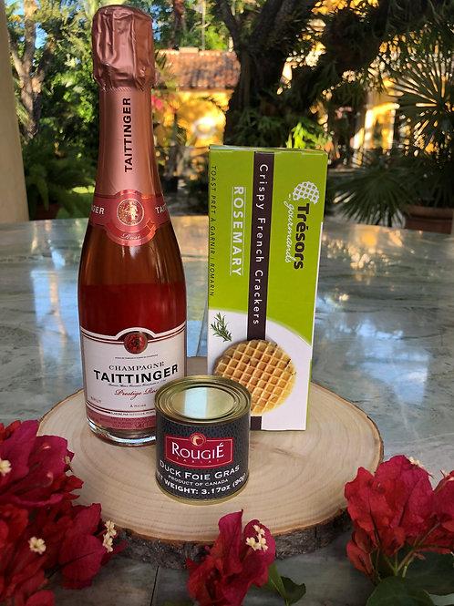 Champagne Taittinger Cuvée Prestige Rosé & Duck Foie Gras Gift Set