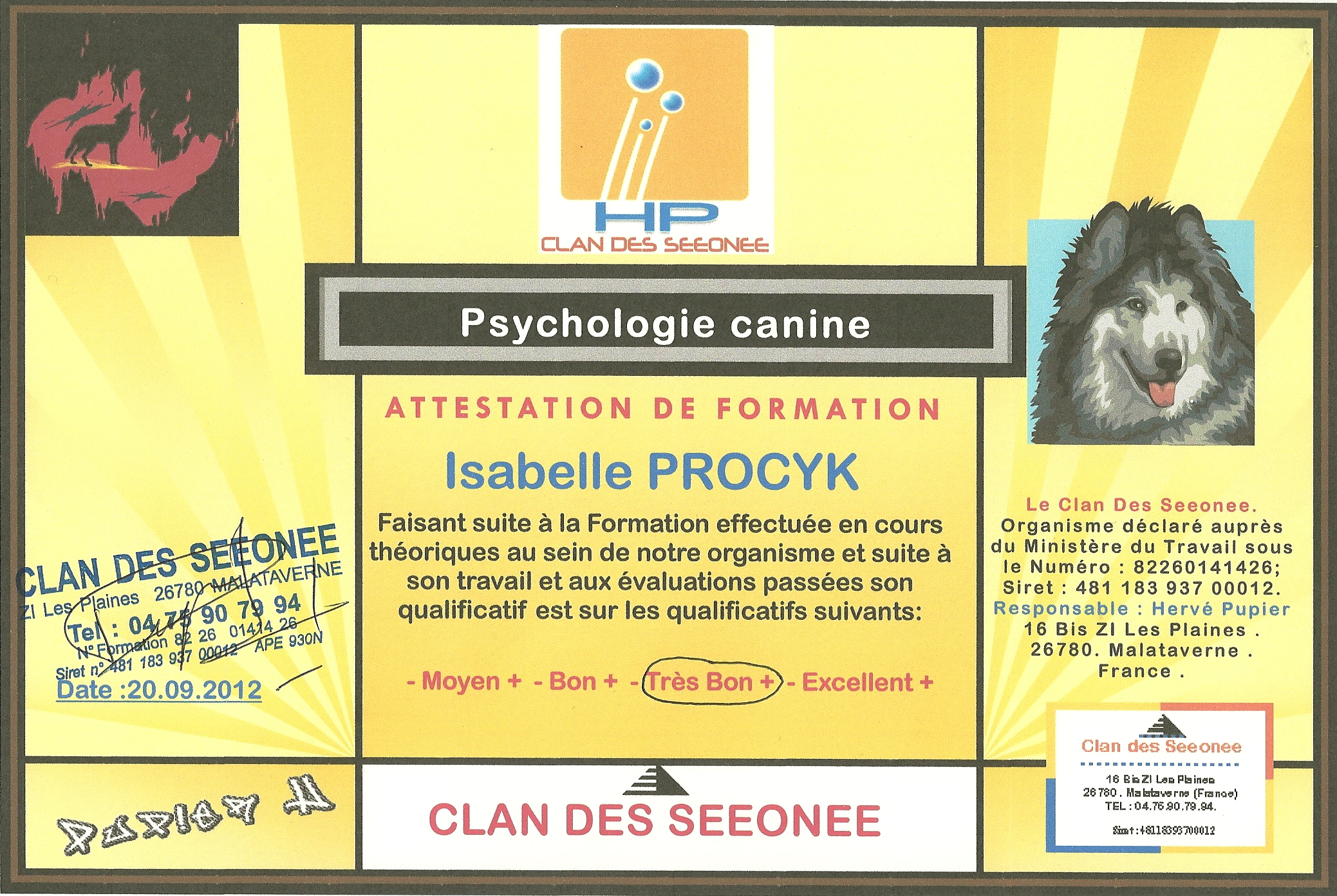 psychologie canine