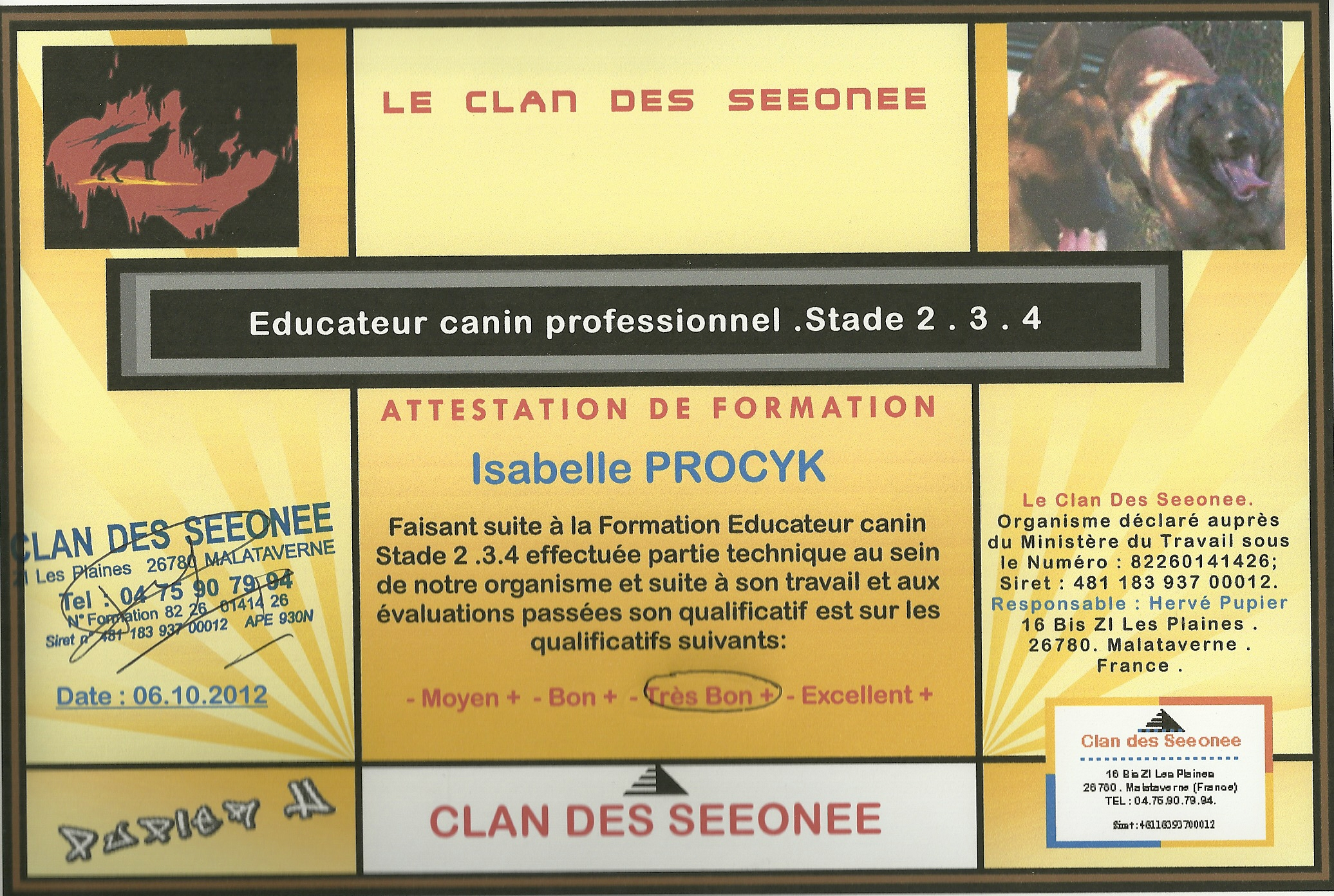 Educateur canin professionnel