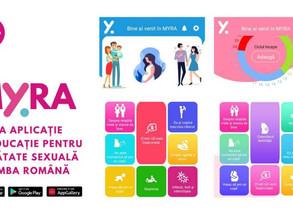 Myra - prima aplicație mobilă de educație pentru sănătate sexuală în limba română