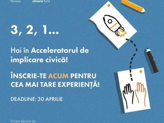 Hai în Acceleratorul de implicare civică pentru tineri!