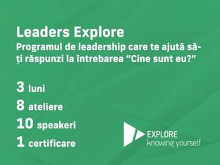 LEADERS Explore Elevi - programul național online de leadership personal