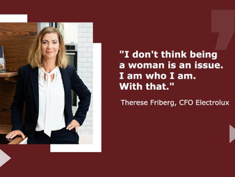 Mentoring with Therese Friberg, CFO Electrolux