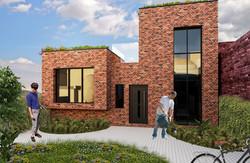 New development on rear excess land, London