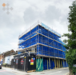 Co-living scheme on site in Swanscombe