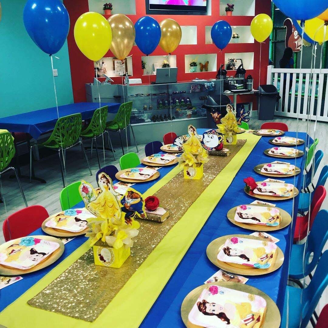 package 3 beauty and the beast kids table