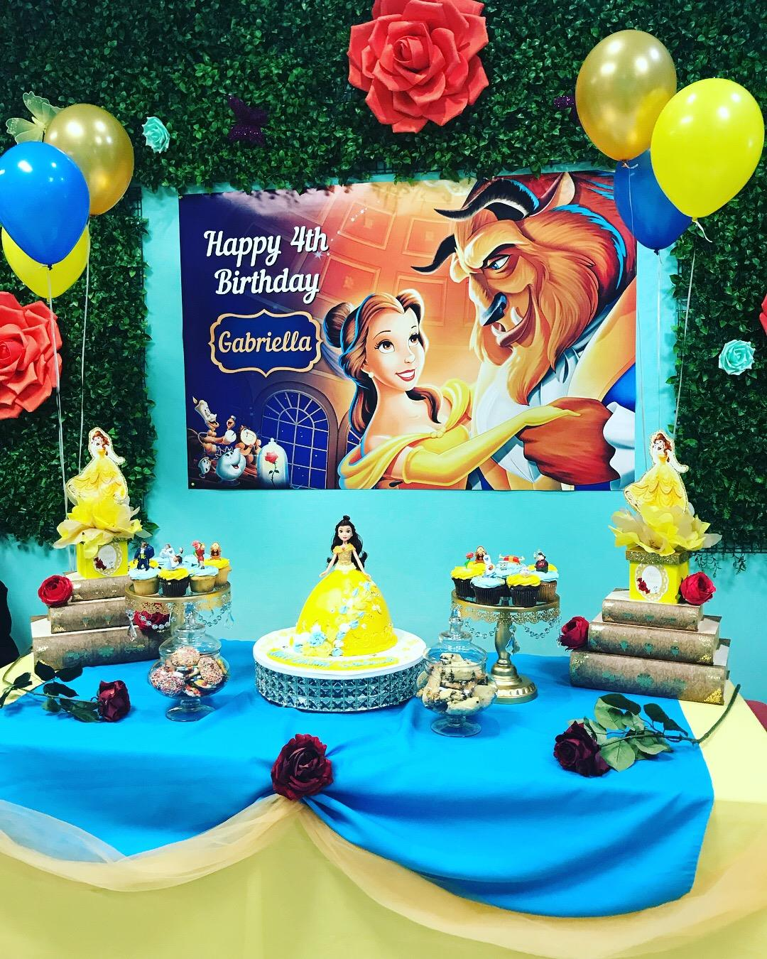 package 3 beauty and the beast cake table