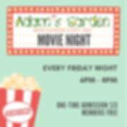 Mint Theater Marquee Popcorn Movie Night