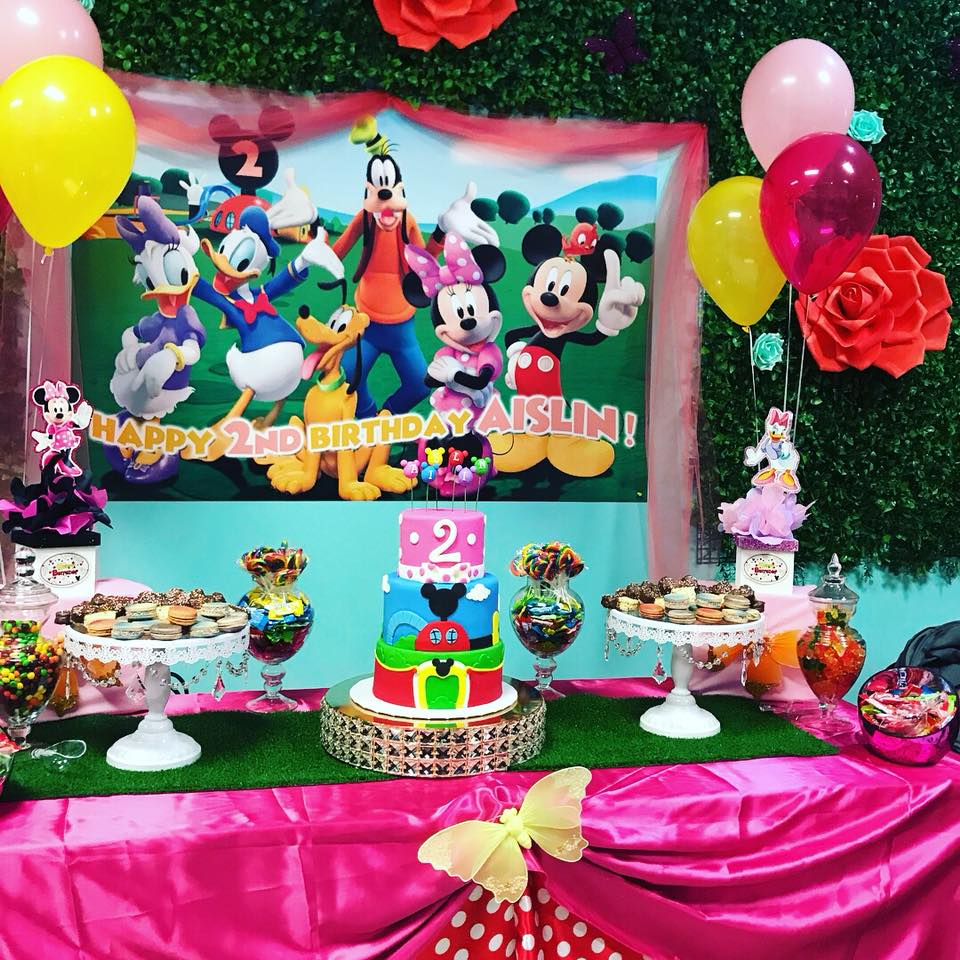 package 3 mickey mouse club house cake table