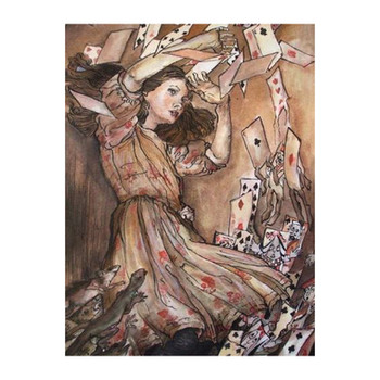 ** Recreation of Arthur Rackham - At this the whole pack rose up into the air, and came flying down upon her **