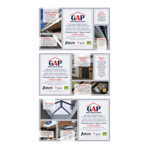 GAP Home Improvements - Half Page Newspaper Spreads