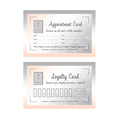 The Secret Garden - Appointment and Loyalty Cards