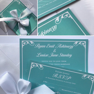 Blue and White Multiway Invitation set (A6)