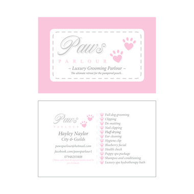 Paws PARLOUR - Business Card